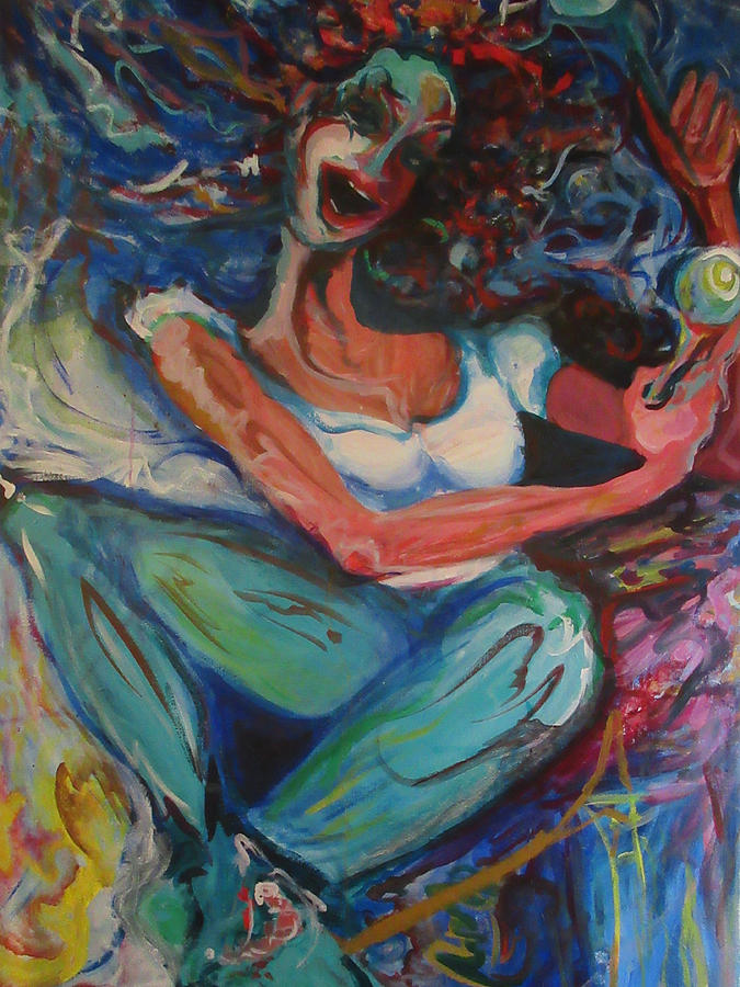 Mardi Gras Painting - Shake Shake by Amy Casteel