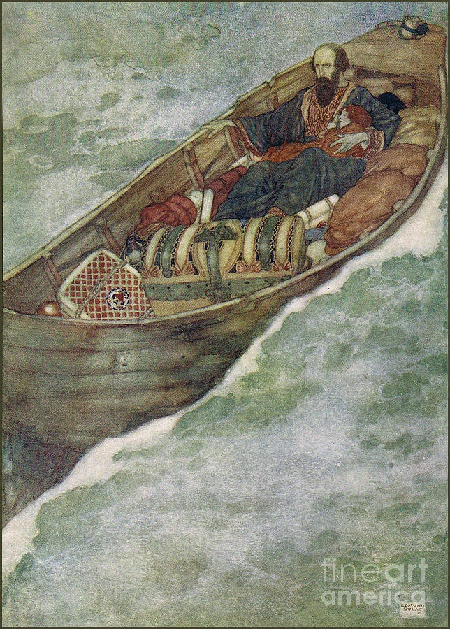 Edmund Dulac Painting - Shakespeare S Comedy Of The Tempest by Celestial Images