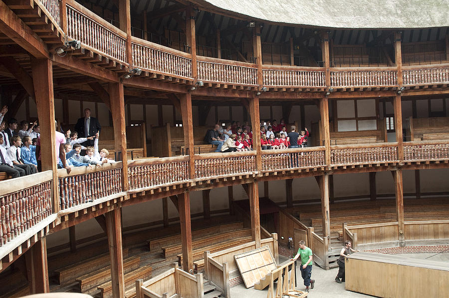 Theater Photograph - Shakespeares Globe Theater C378 by Charles  Ridgway