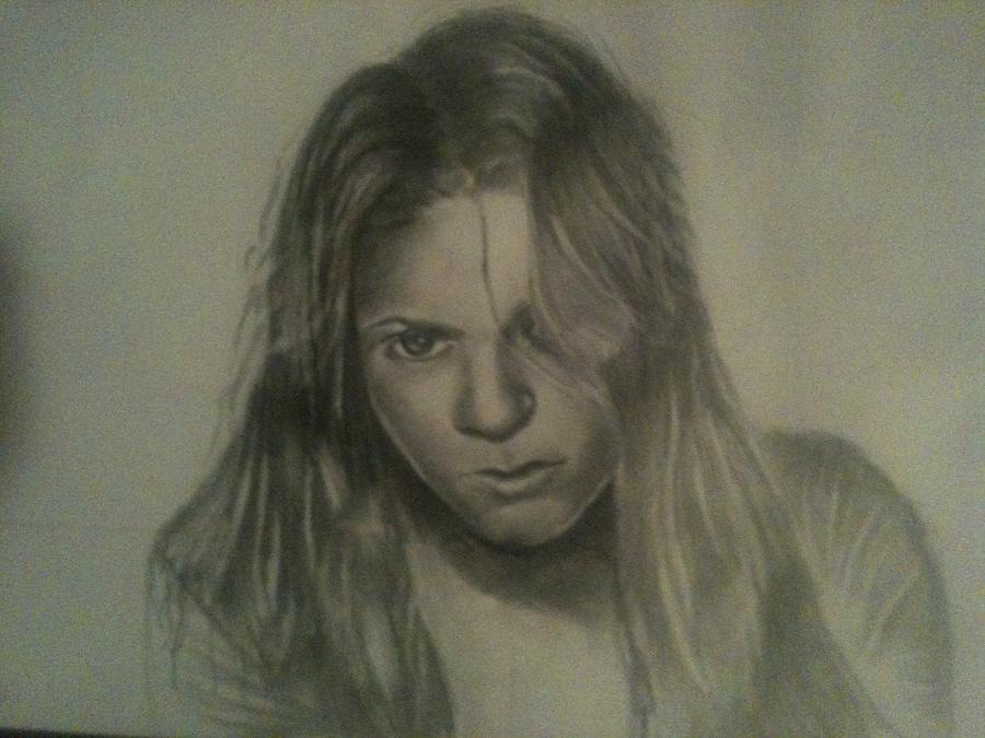 Shakira Drawing - Shakira by Jose  Lopez