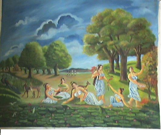 Figurative Painting - Shakuntala by Nagin Bangaru