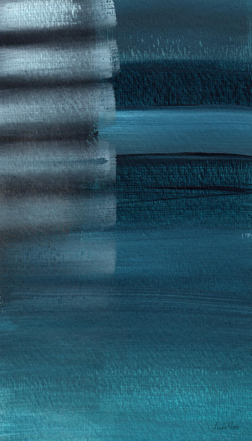 Blue Painting - Shallow- Abstract Art By Linda Woods by Linda Woods