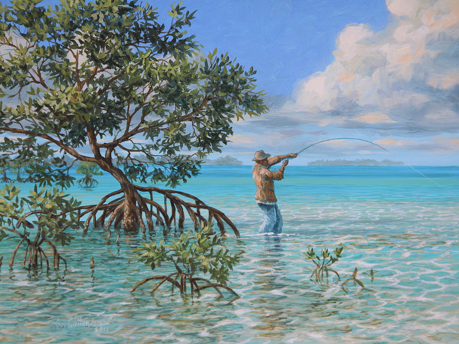 Bahamas Painting - Shallow Run by Guy Crittenden
