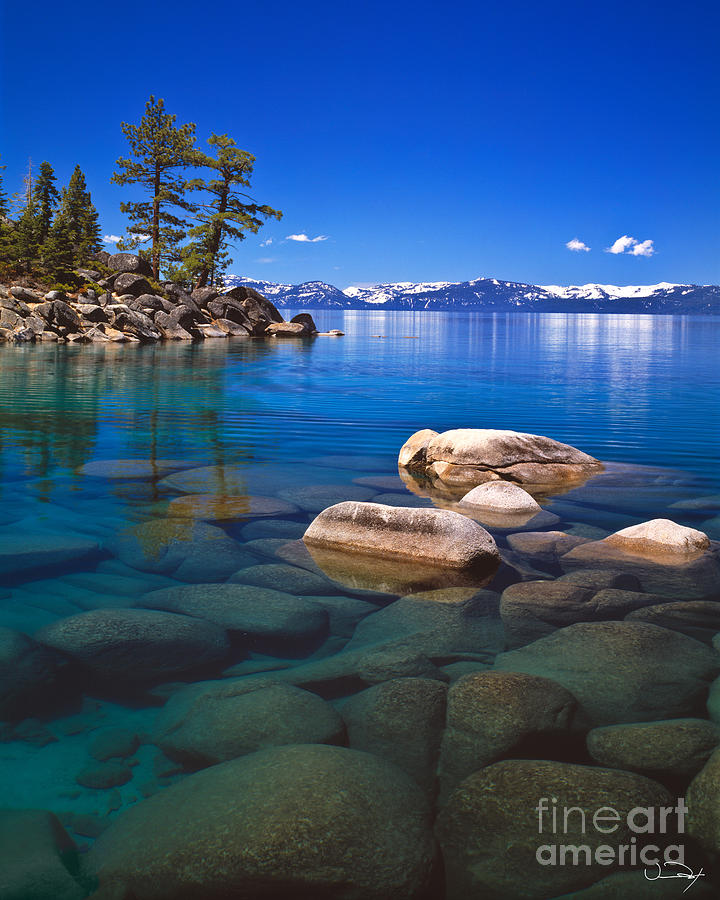 Lake Tahoe Photograph - Shallow Water by Vance Fox