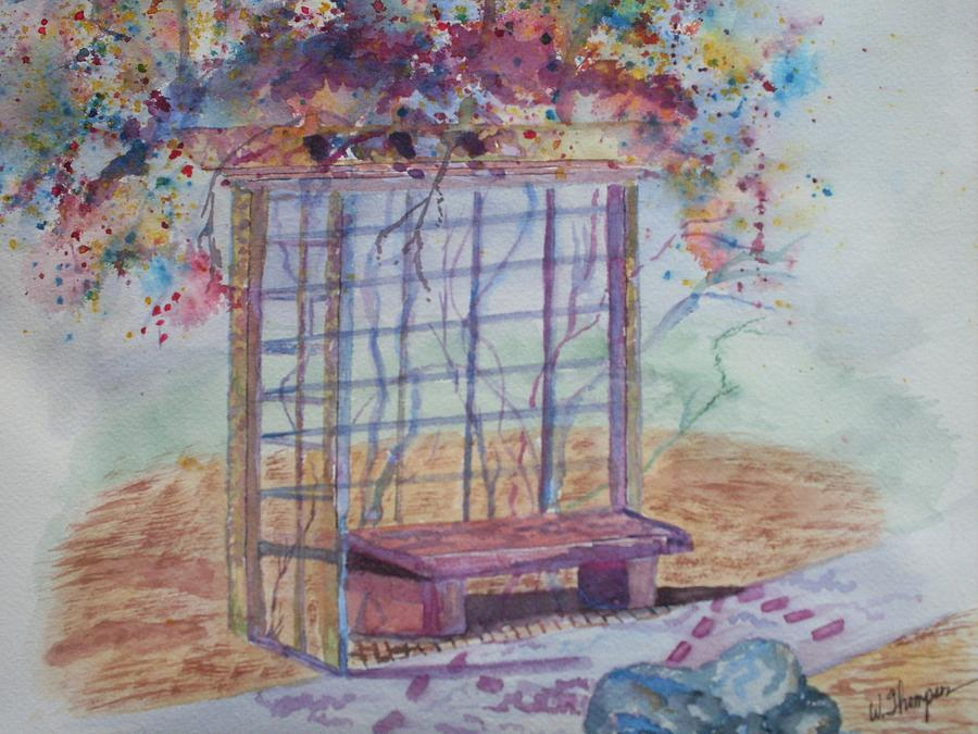 Rose Arbor Painting - Shalom Rose Arbor by Warren Thompson