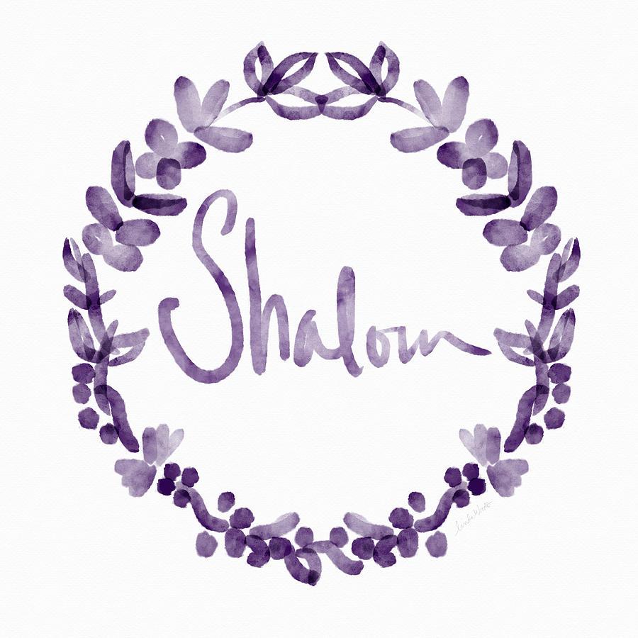 Shalom Painting - Shalom Wreath- Art By Linda Woods by Linda Woods
