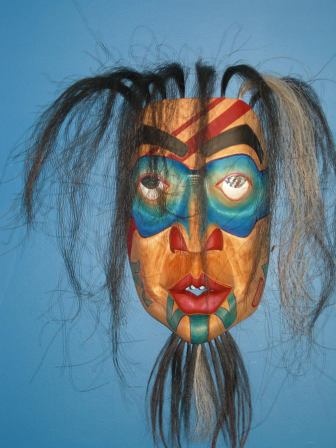 Wood Carvings Sculpture - Shaman In A Trance by Shane  Tweten