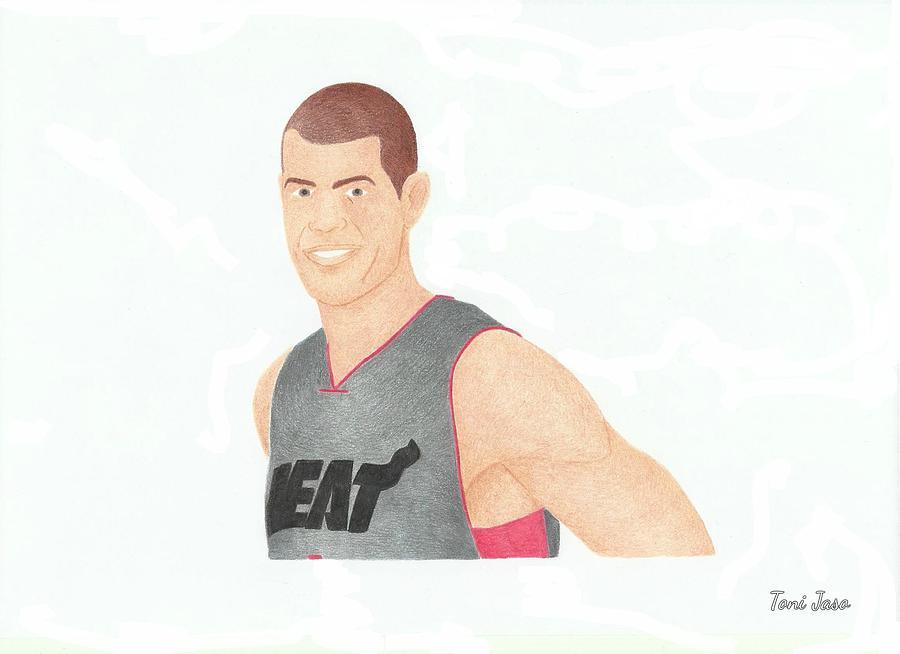 Basketball Drawing - Shane Battier by Toni Jaso