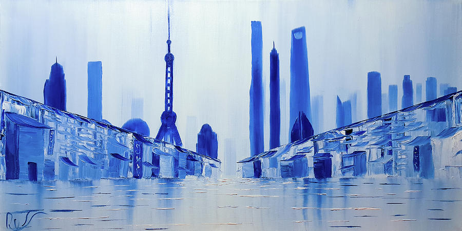Shanghai In The Rain by Russell Collins