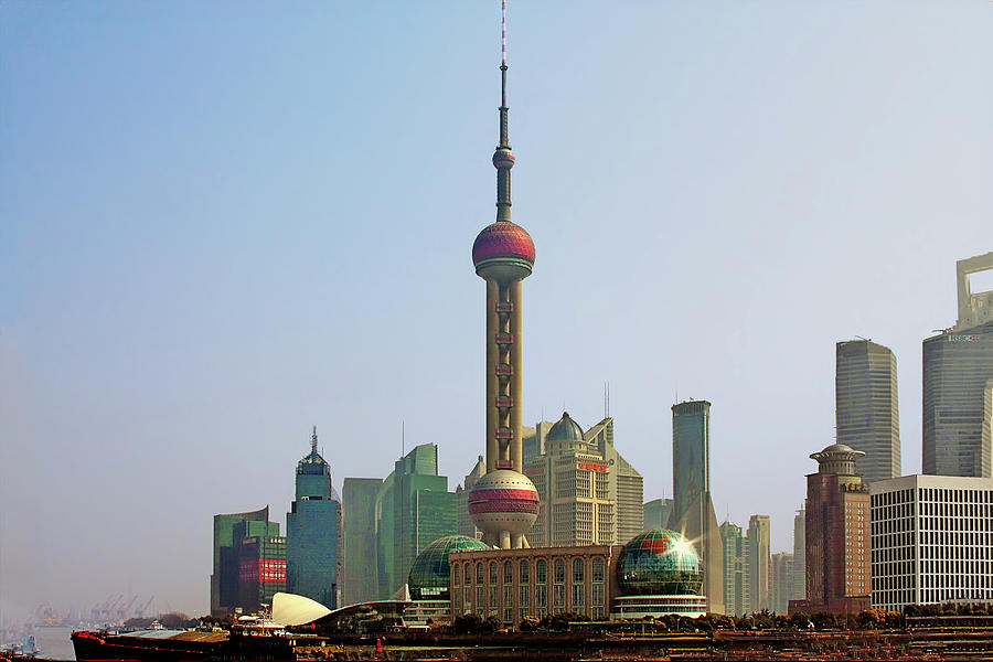 China Photograph - Shanghai Pudong - Today Denser Than Yesterday But Less Than Tomorrow by Christine Till