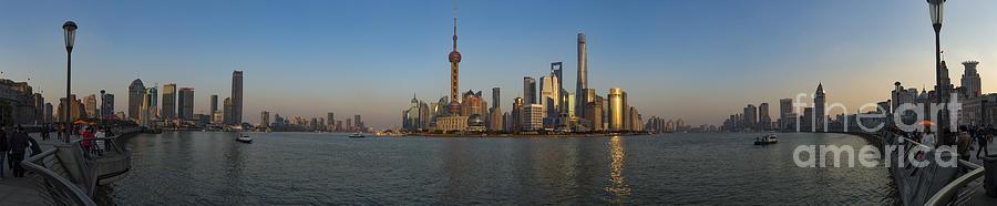 Shanghai Pudong Sunset by James L Davidson