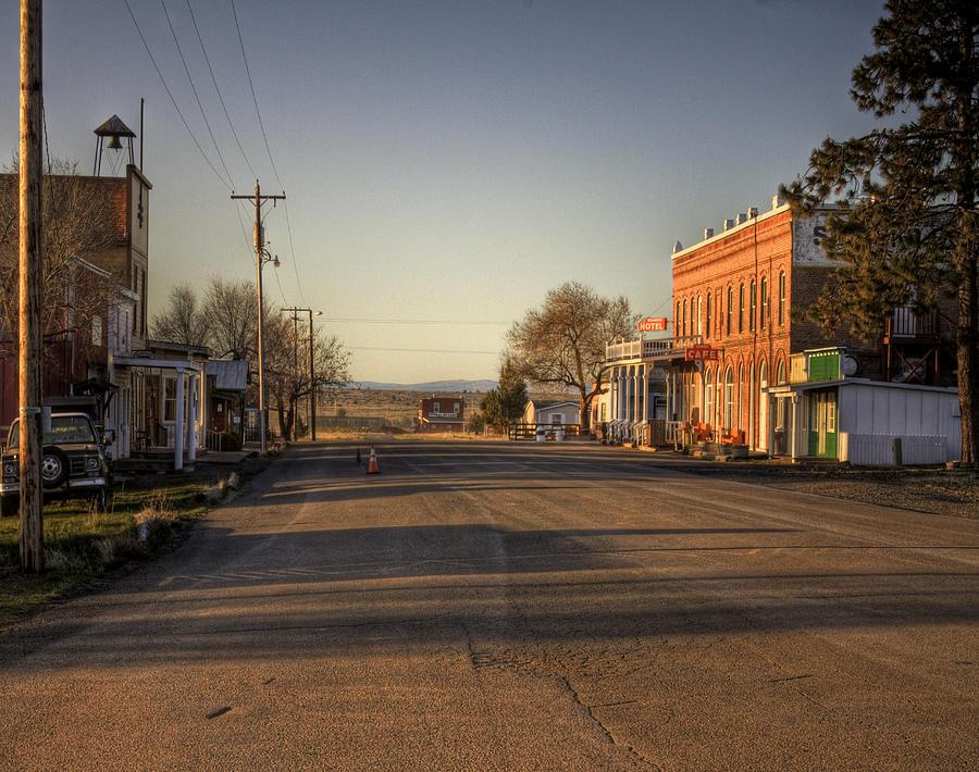 Townscape Photograph - Shaniko Oregon  by Lee  Santa