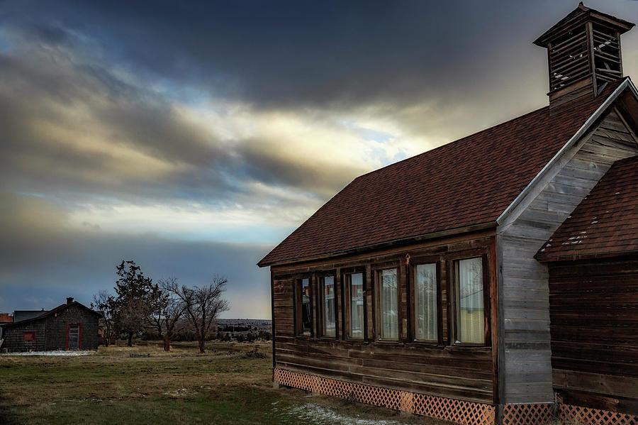 Washington Photograph - Shaniko Schoolhouse by Cat Connor