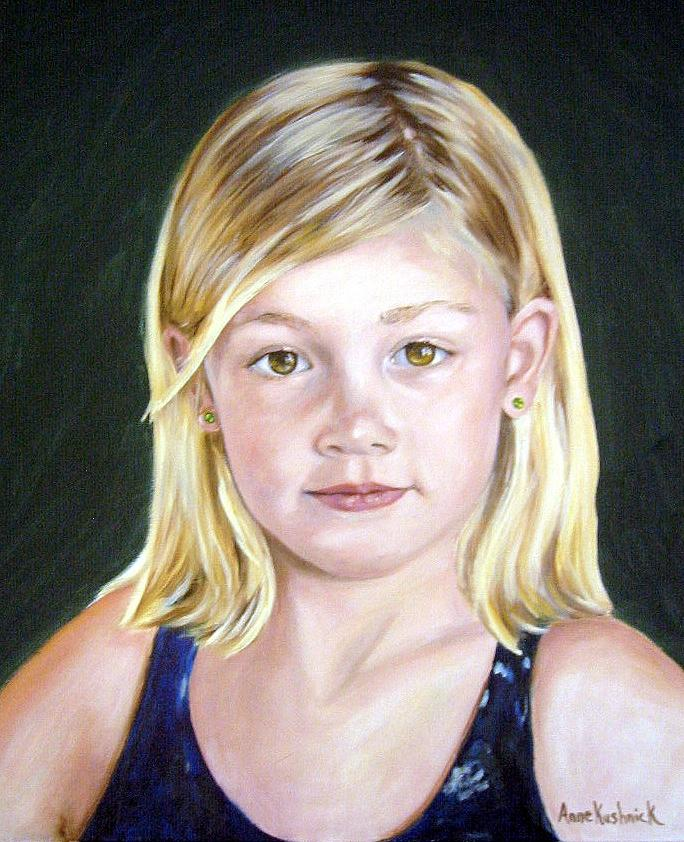 Portrait Painting - Shannon by Anne Kushnick