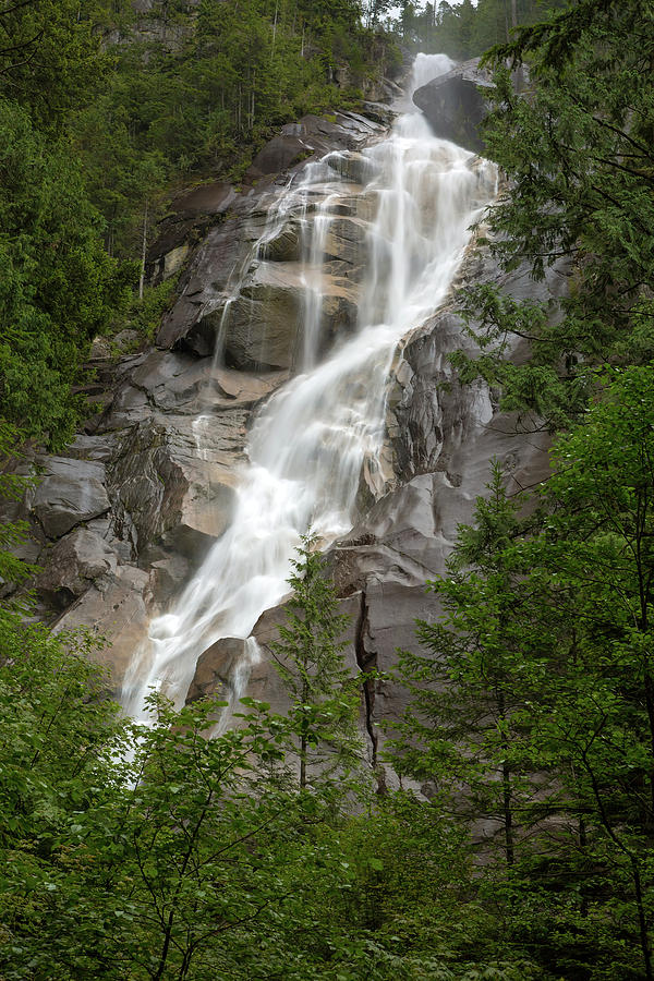 Shannon Falls at Provincial Park in Squamish by Jit Lim