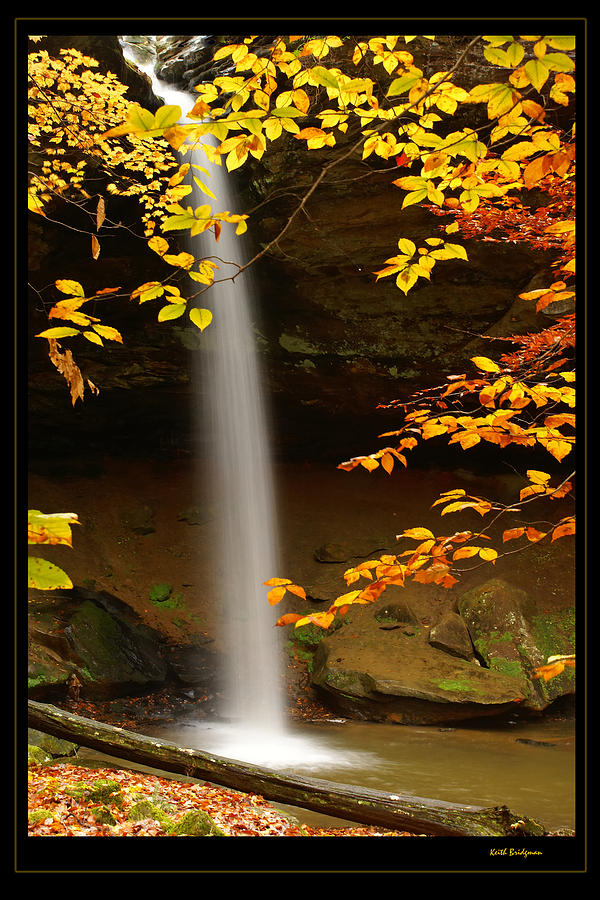 Waterfall Photograph - Shanty Hollow Falls by Keith Bridgman