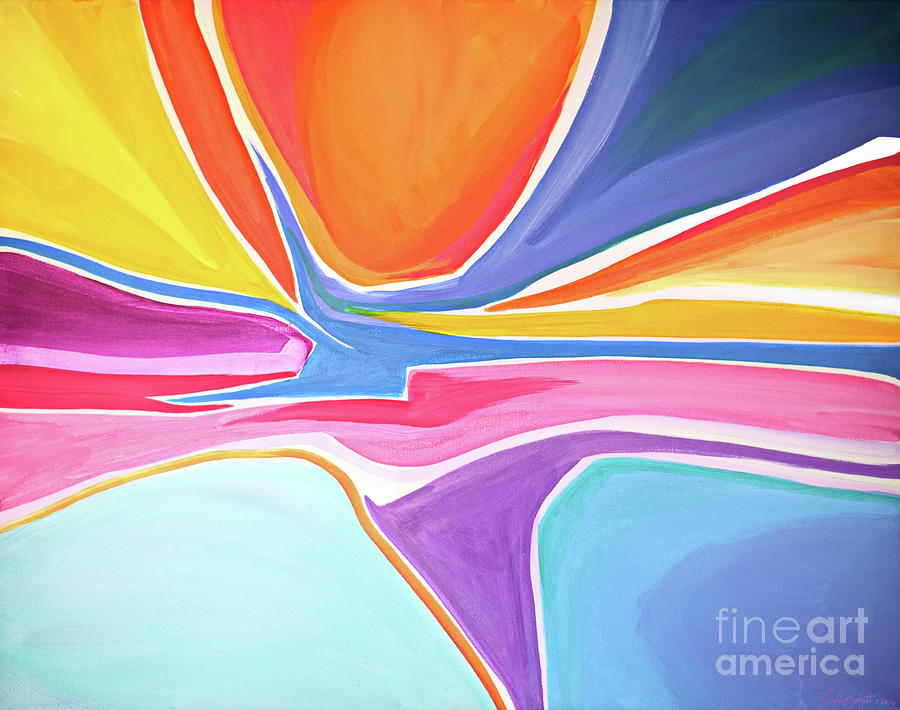 Simplistic Painting - Shape Shifter by Priscilla Batzell Expressionist Art Studio Gallery