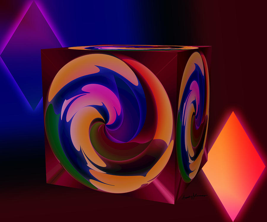 Abstract Digital Art - Shapes by Anthony Caruso