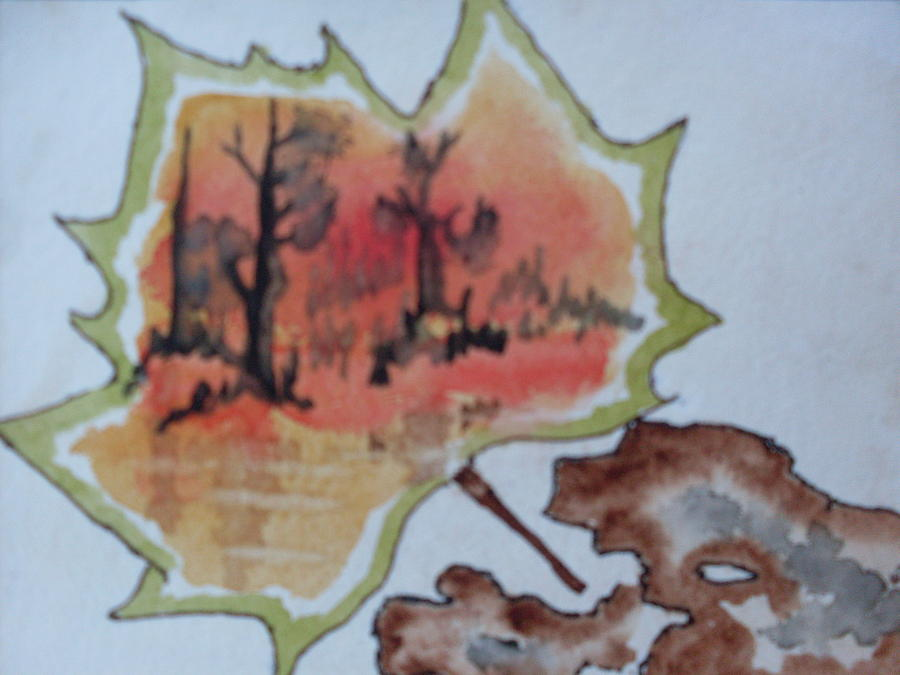 Leaf Painting - Shapes Of Nature by Warren Thompson
