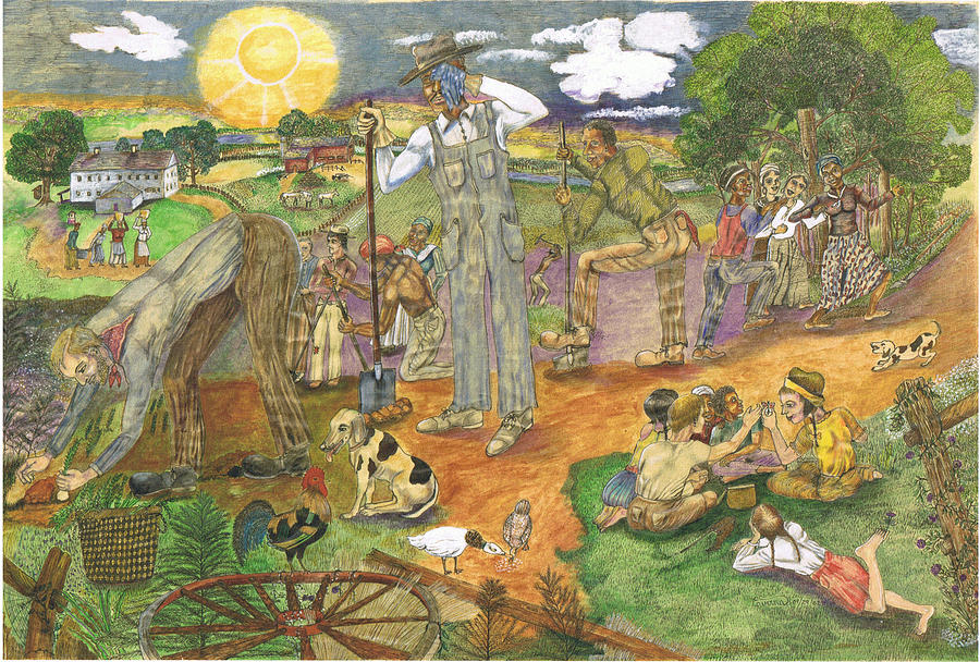 Sharecroppers Painting - Sharecroppers by Everna Taylor