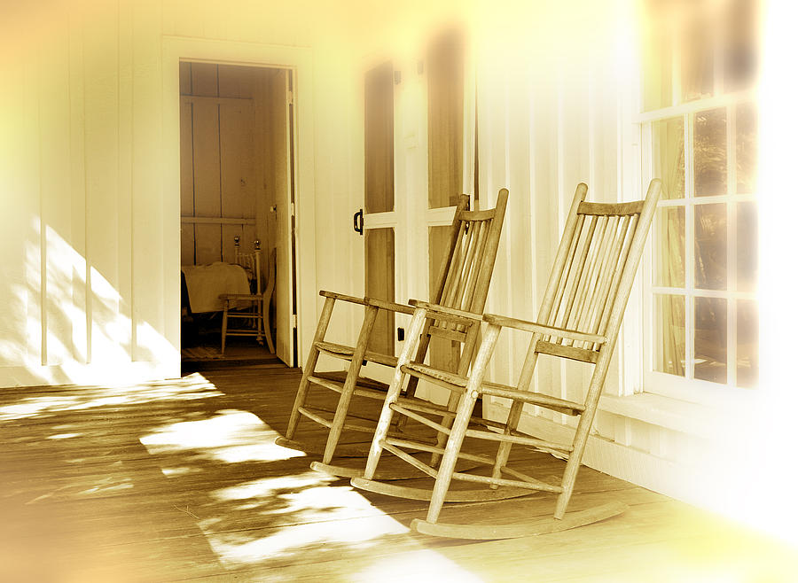 Porch Photograph - Shared Moments by Mal Bray