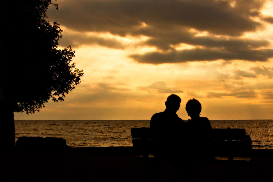 Wisconsin Photograph - Sharing A Sunset by Carl Jackson