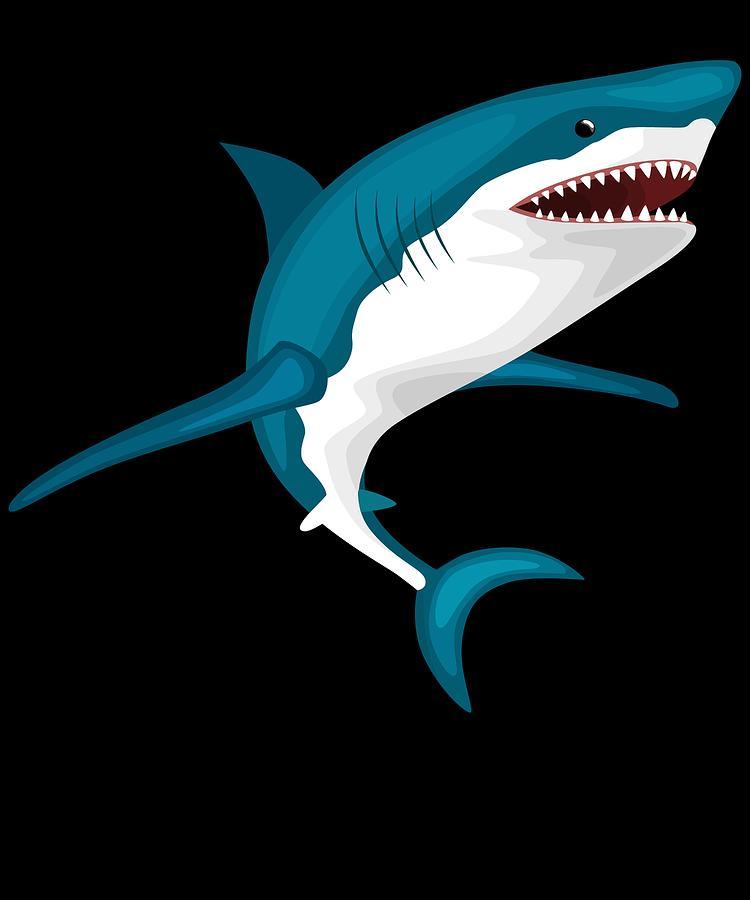 Adults Digital Art - Shark Attack Funny Shark Lover Design For The Week Of The Shark