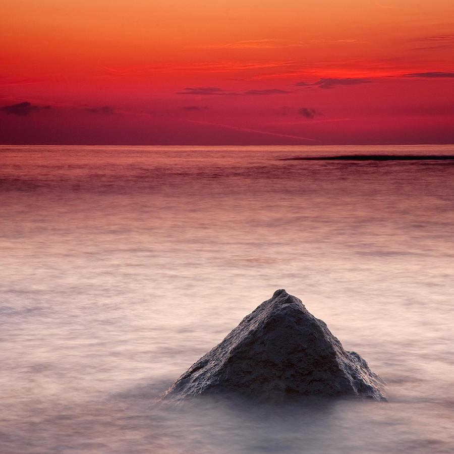 Sea Photograph - Shark Fin by Evgeni Dinev
