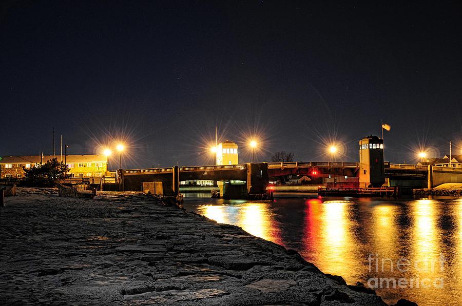 Shark Photograph - Shark River Inlet At Night by Paul Ward