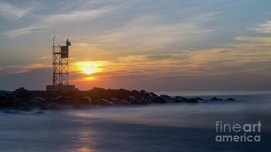 New Jersey Photograph - Shark River Inlet Bug Light by Jerry Fornarotto