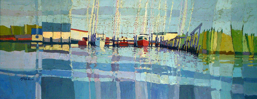 Fishing Boats Painting - Shark River Inlet by Donald Maier