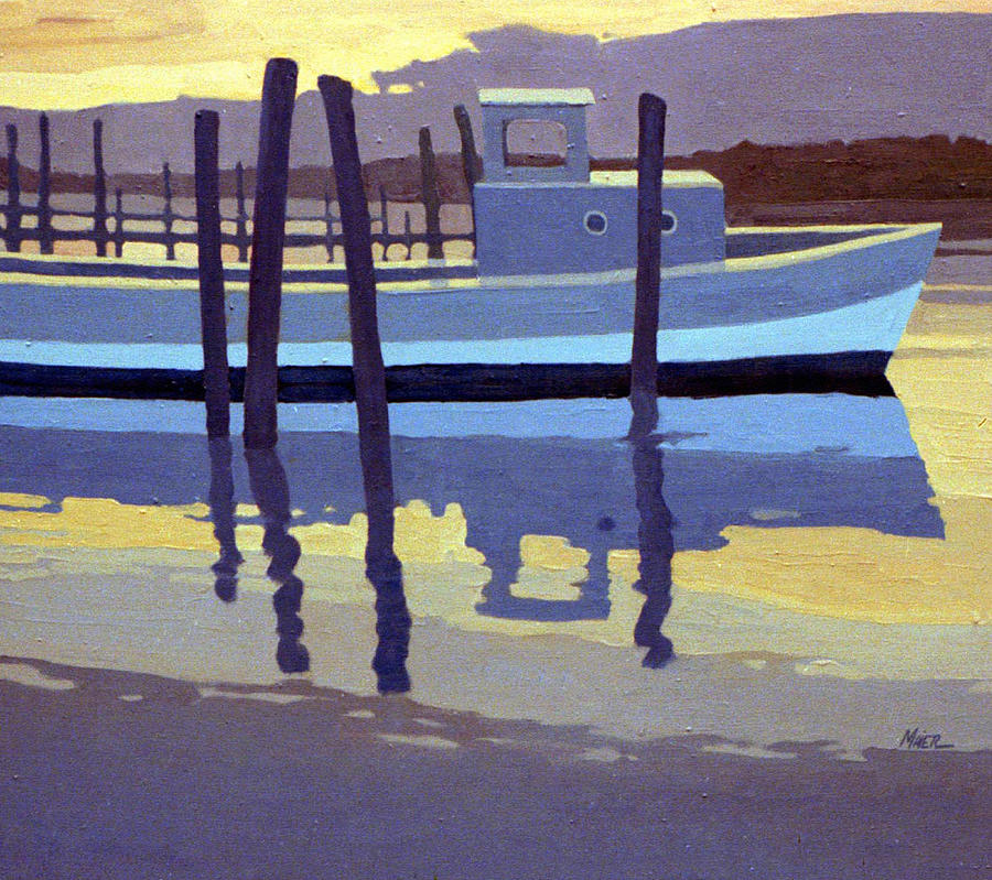 Lobster Boat Painting - Shark River Lobster Boat by Donald Maier