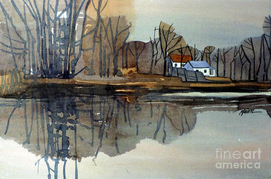 Plein Air Painting - Shark River Reflections by Donald Maier