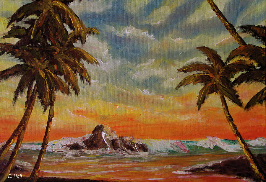 Sharks Cove Painting - Sharks Cove North Shore Oahu #394 by Donald k Hall
