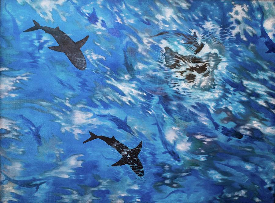 Sharks Painting - Sharks#3 by Darren Mulvenna