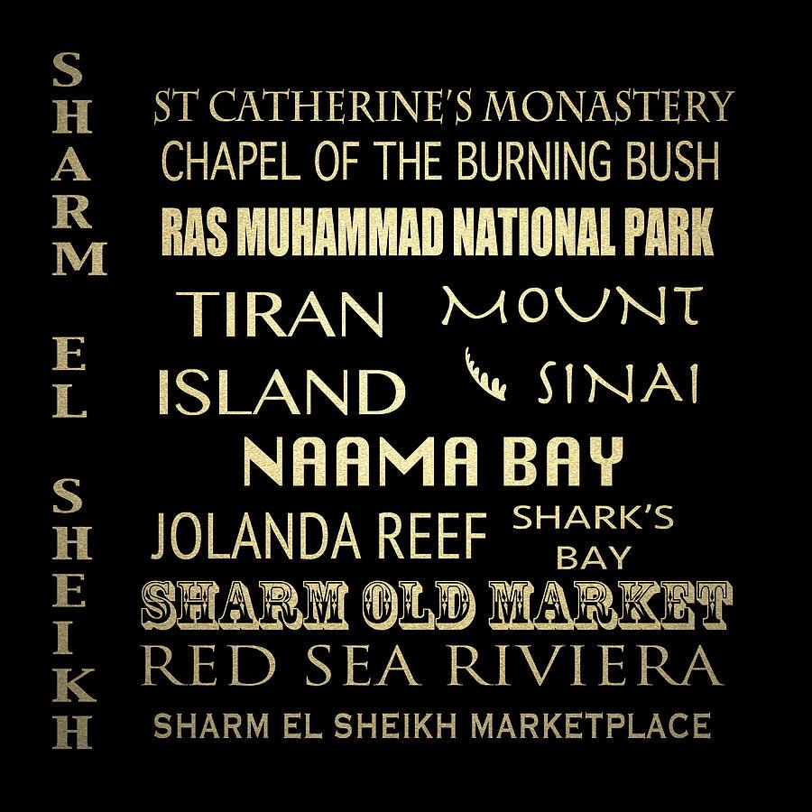Tiran Island Digital Art - Sharm El-sheikh Famous Landmarks by Patricia Lintner