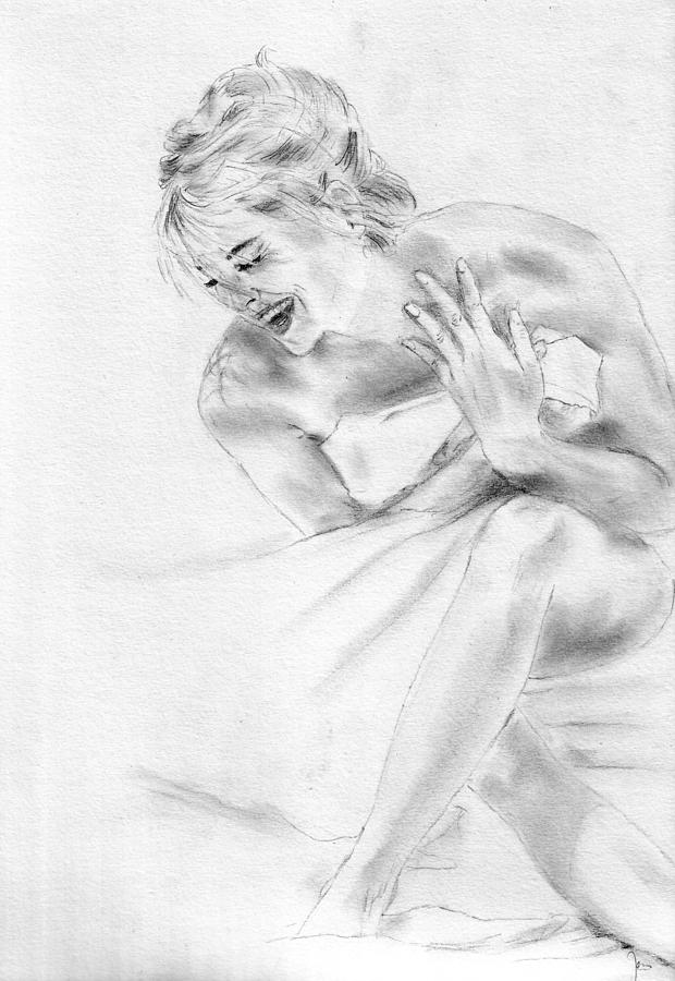Sharon Stone Drawing - Sharon Stone by Jessica Rose
