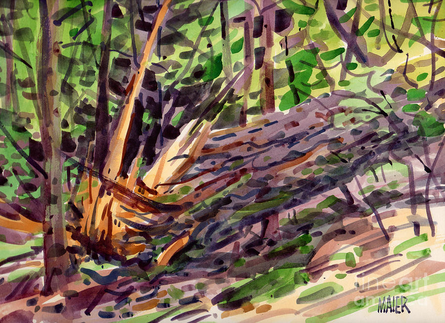Pine Tree Painting - Shattered Pine by Donald Maier