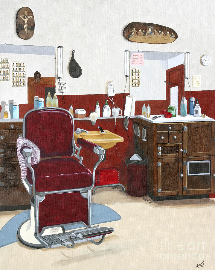Barbershop Painting - Shave And A Haircut by Jennifer  Donald
