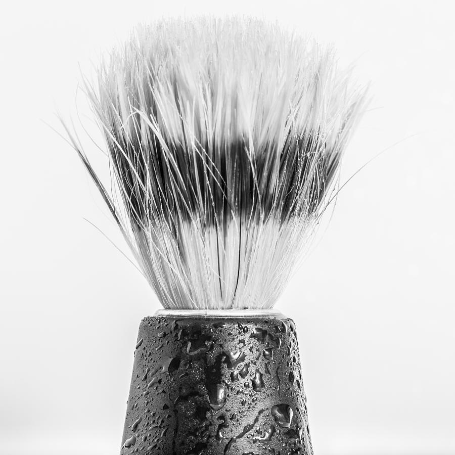 Brush Photograph - Shaving Brush by Gary Gillette
