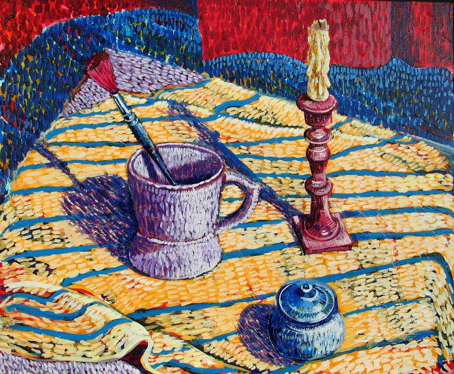 Still Life Painting - Shaving Mug by Rollin Kocsis