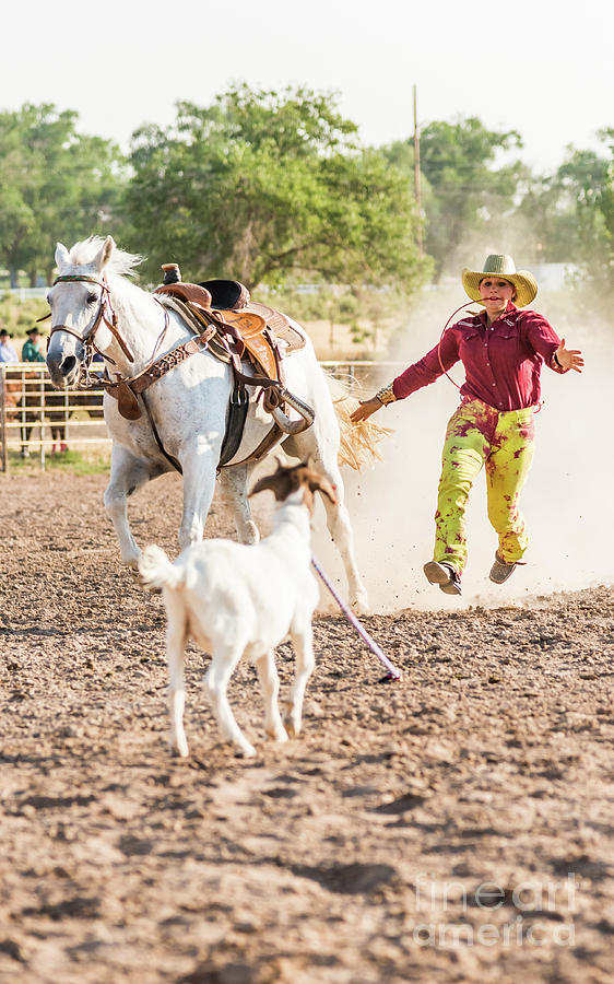 Shawnee Sagers Goat Roping Competition by Jim DeLillo