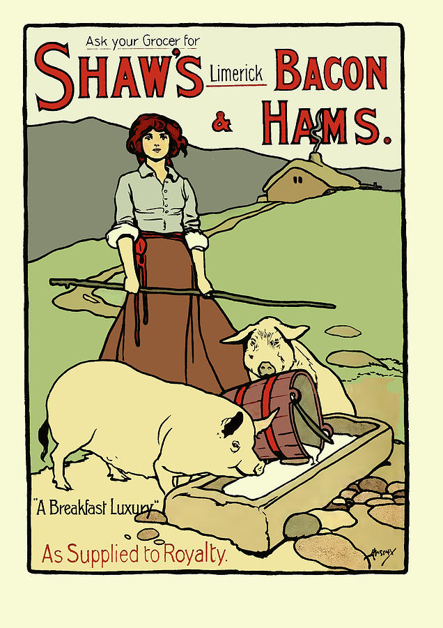 Advertising Painting - Shaws Bacon and Hams by Gavin Wilson