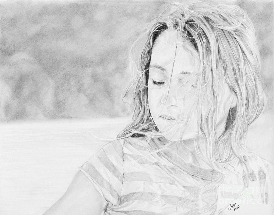 Portrait Drawing - Shayla by Shevin Childers