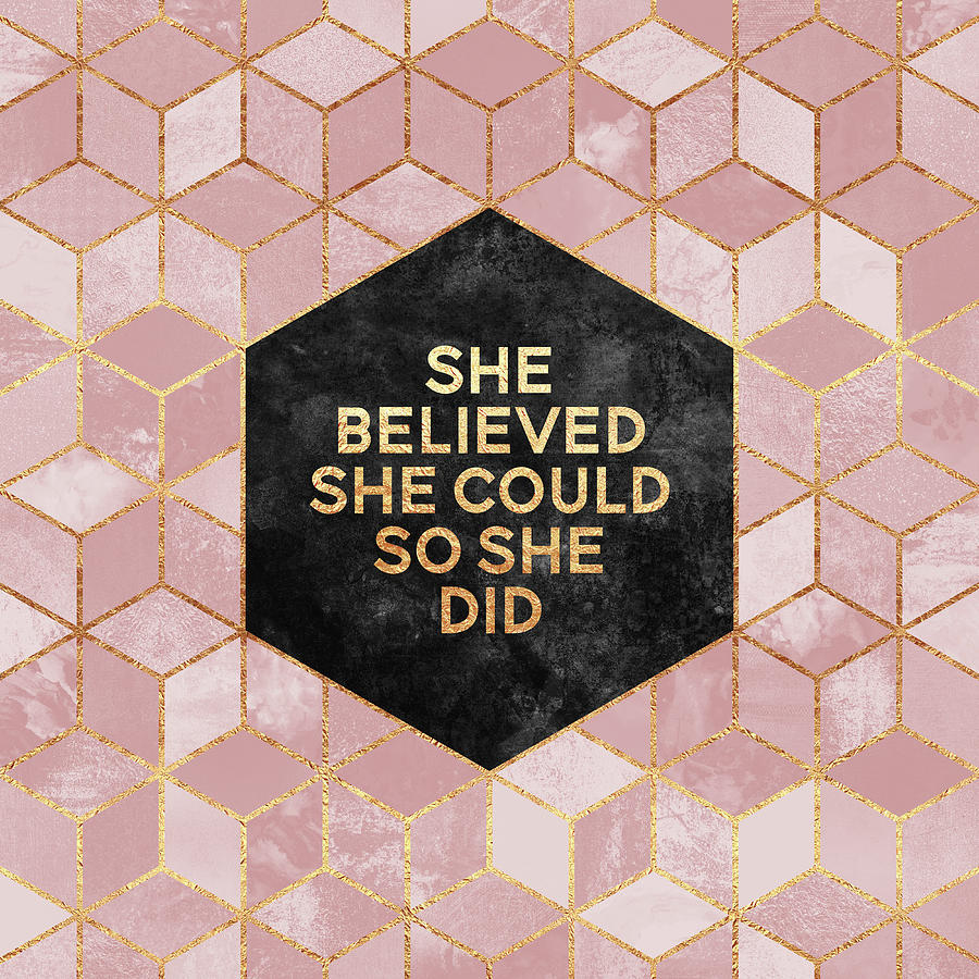 Graphic Digital Art - She believed she could by Elisabeth Fredriksson