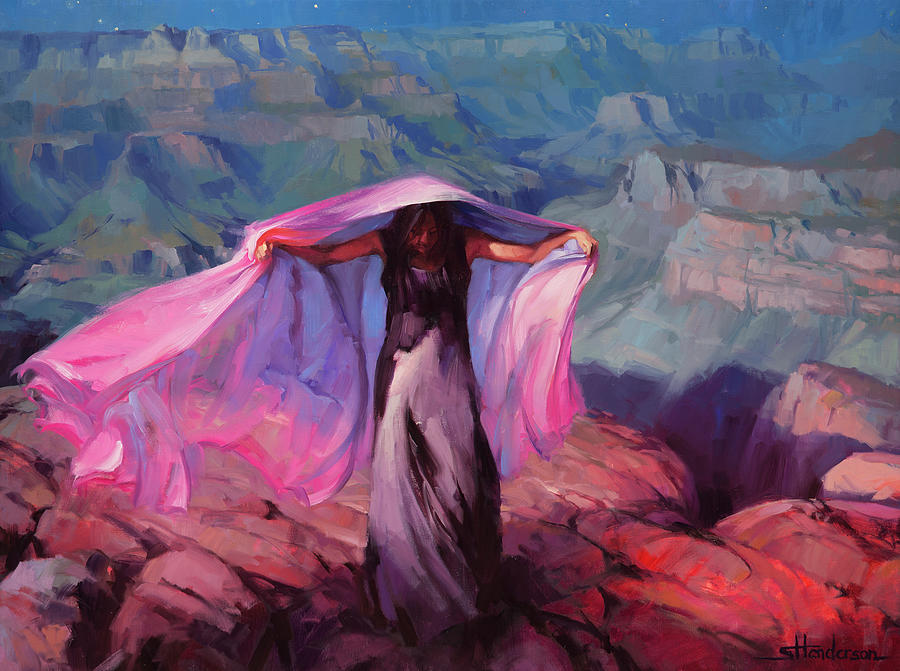Dancer Painting - She Danced by the Light of the Moon by Steve Henderson