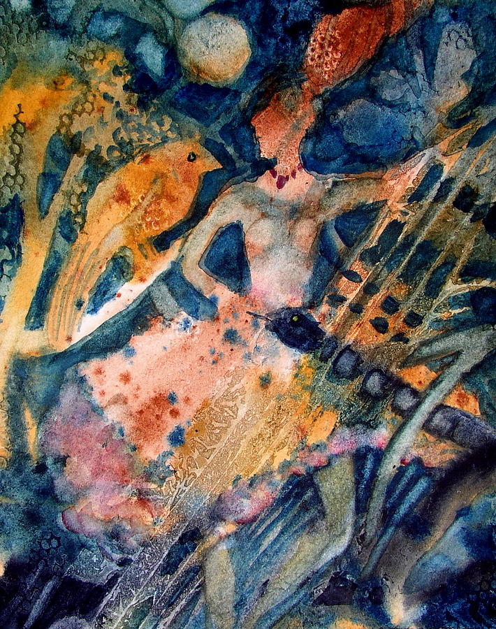 Abstract Paintings Painting - She Danced The Tango by Laurie Salmela