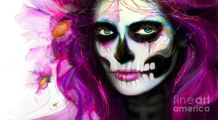 She, Dia de los Muertos by Jaimy Mokos