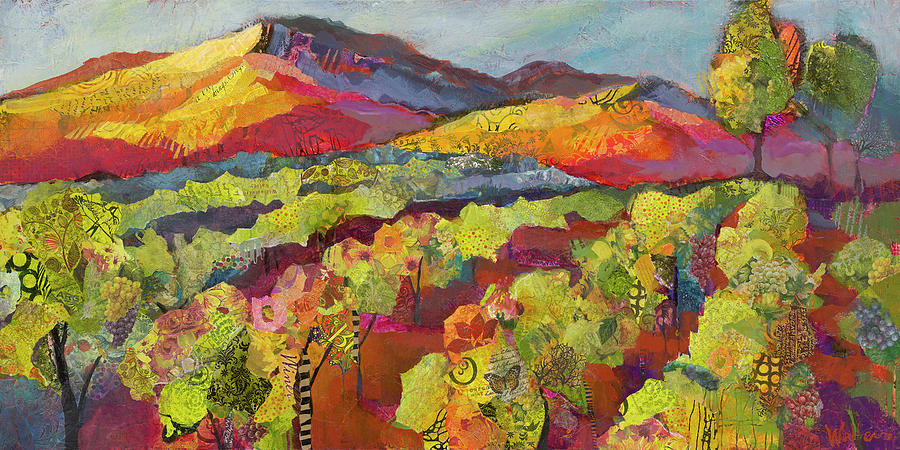Vineyard Painting - She Flies With Her Own Wings by Shelli Walters