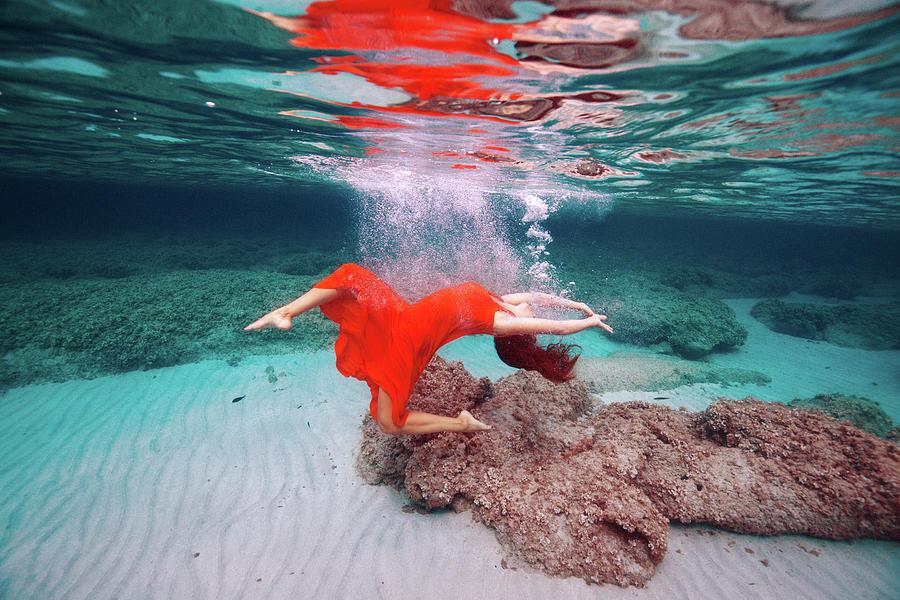 Swim Photograph - SHE by Gemma Silvestre